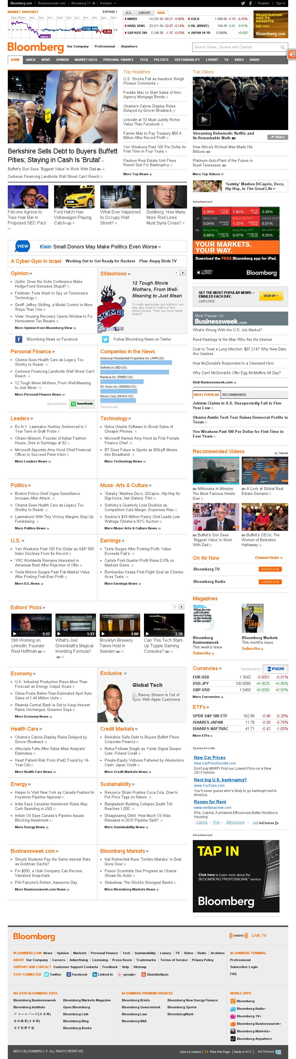 Bloomberg at Thursday May 9, 2013, 10:04 p.m. UTC