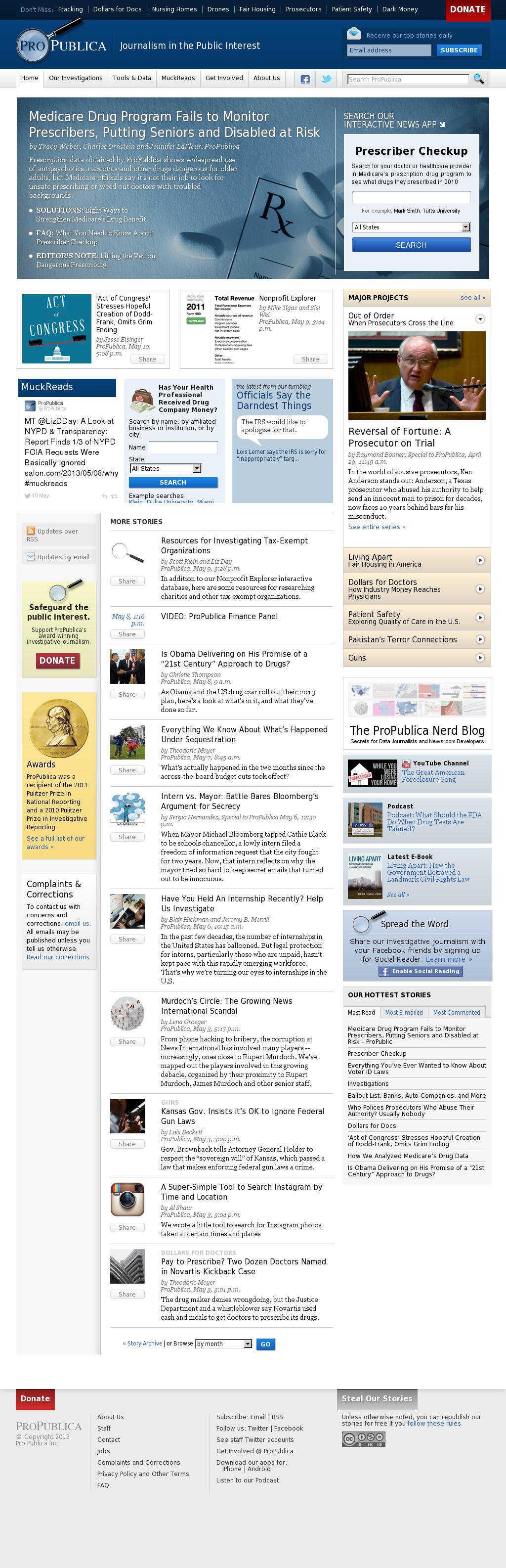 ProPublica at Monday May 13, 2013, 7:18 a.m. UTC