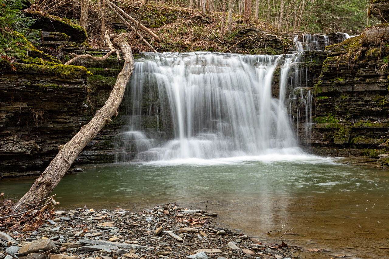The beautiful rushing waters of Twins Falls in Schuyler County (photo)
