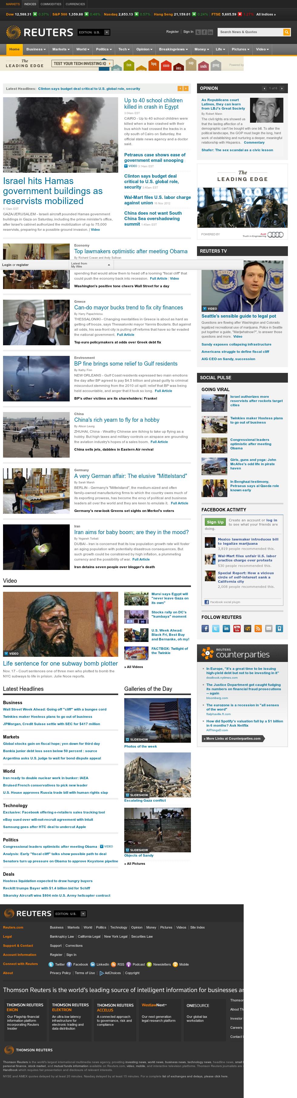 Reuters at Saturday Nov. 17, 2012, 9:25 a.m. UTC