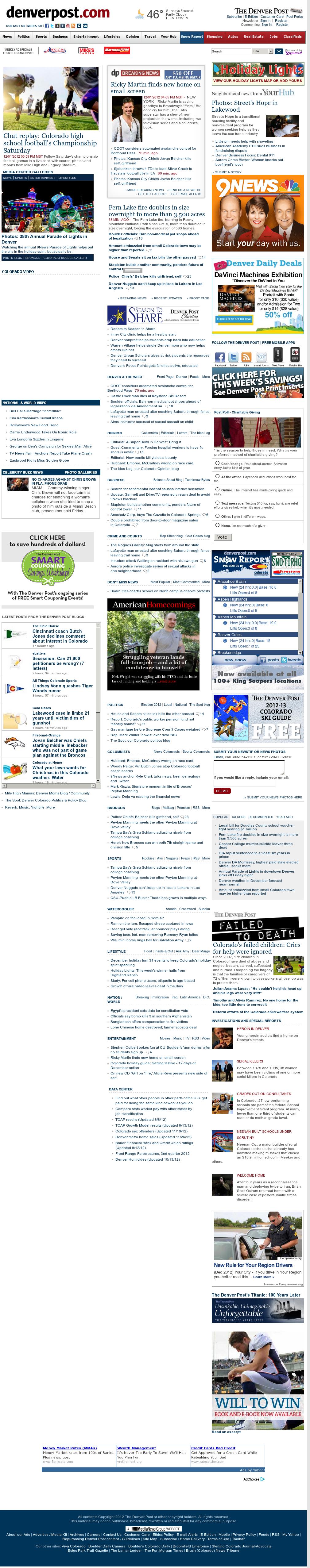 Denver Post at Sunday Dec. 2, 2012, 3:06 a.m. UTC