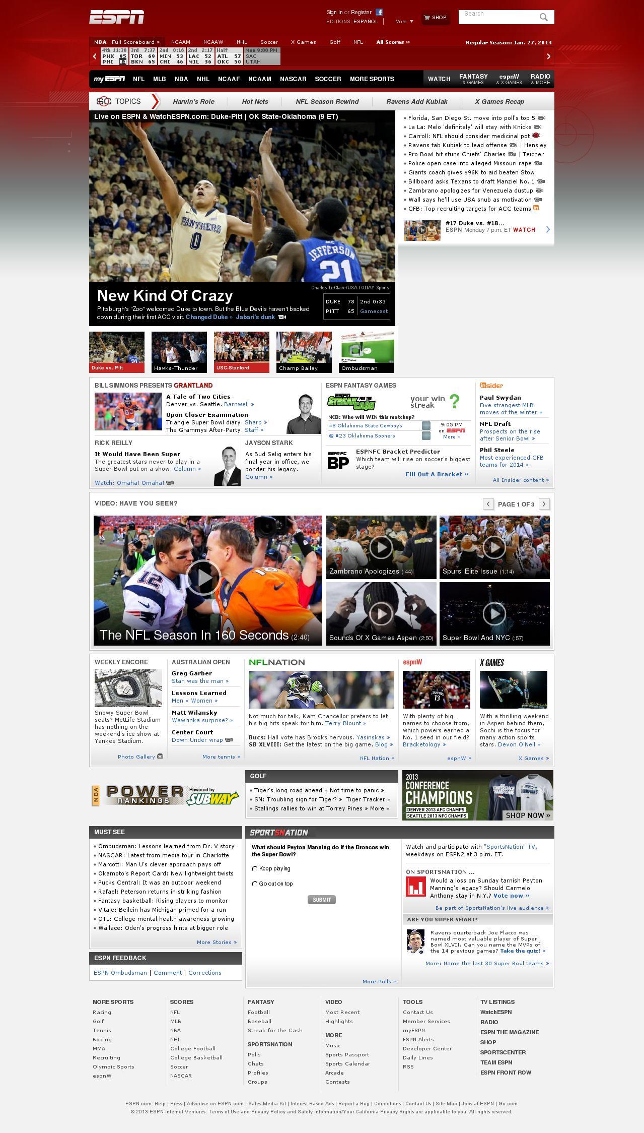 ESPN at Tuesday Jan. 28, 2014, 2:06 a.m. UTC
