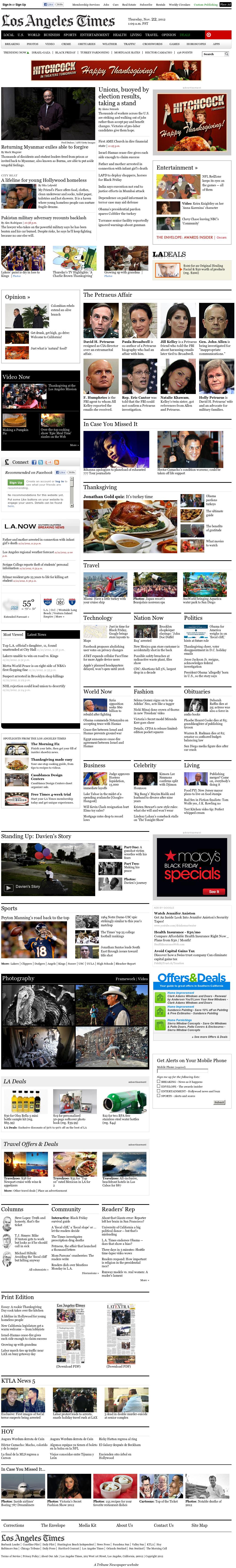 Los Angeles Times at Thursday Nov. 22, 2012, 9:16 a.m. UTC