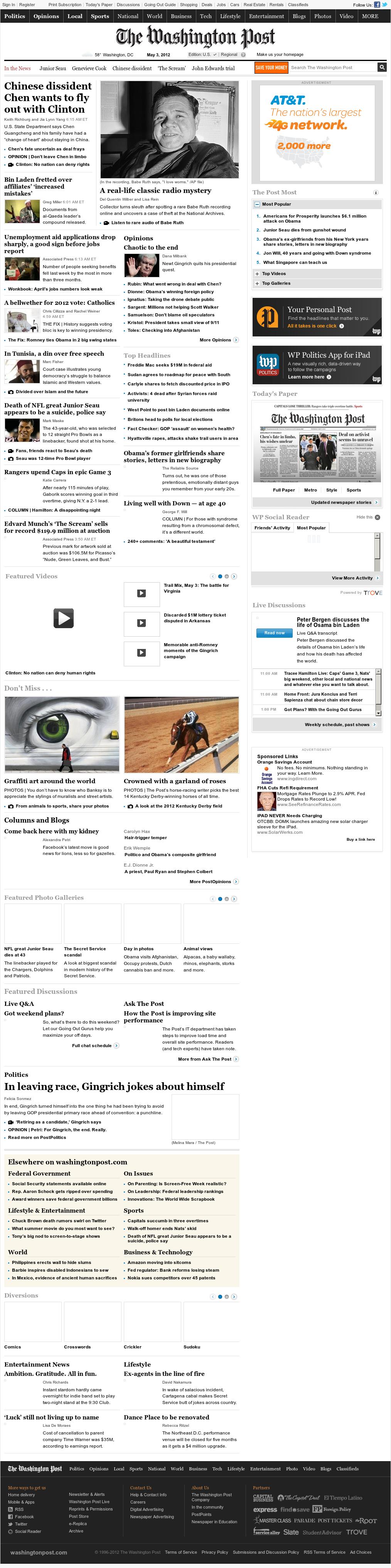 The Washington Post at Thursday May 3, 2012, 1:19 p.m. UTC